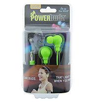 4id PowerBudz auricolari LED, Green