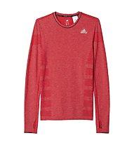 Adidas Adistar Wool Primeknit LS langärmliges Runningshirt mit PrimaLoft, Red