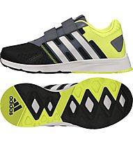 Adidas AZ Faito CF Kinder, Core Black/White/Solar Yellow