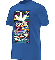 Adidas Originals Color Pattern T Herren T-Shirt Fitness Kurzarm, Blue