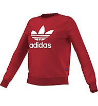 Adidas Originals Crew Sweater Felpa fitness donna, Red
