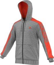 Sportarten > Fitness > Fitness Bekleidung >  Adidas Essentials Linear 3S Full Zip Kapuzenjacke