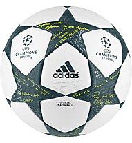Adidas Finale 16 Official UEFA Champions League - pallone da calcio, White/Grey