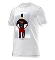 Adidas Originals Fitness Girl T-Shirt ginnastica, White