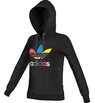 Adidas Hooded Sweatslim Hoodie Felpa con cappuccio fitness donna, Black