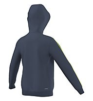 Adidas Essentials Full Zip Hoodie - felpa bambino, Mineral Blue/Solar Slime