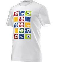 Adidas Originals Stamp Tee Herren T-Shirt Fitness Kurzarm, White