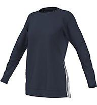 Adidas Sweatshirt Maglia a maniche lunghe fitness donna, Blue