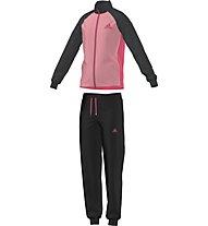 Adidas Tracksuit Suit Entry Closed Hem Girls, Super Pop/Pink/Dark Grey