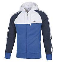 Adidas Tracksuit LPM CB 3S HD tuta da ginnastica, Blue/White/Navy