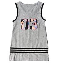 Adidas Wardrobe Style Tank Maglia Bimba, Medium Grey Heather