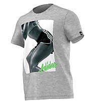 Adidas Work Out Girl T-Shirt, Medium Grey Heather