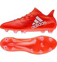 Adidas X 16.1 FG - scarpe da calcio terreni compatti, Red