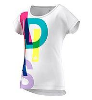 Adidas Wardrobe Fitness Logo T-Shirt bambino, White/Matte Silver