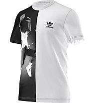 Adidas Originals Ball Photo Tee Herren T-Shirt Fitness Kurzarm, White/Black