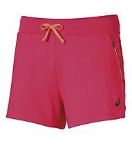 Asics FuzeX 4in Knit Short running donna, Light Red