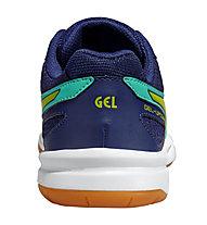 Asics Upcourt GS Scarpe da ginnastica bambina, Turquoise/Light Yellow