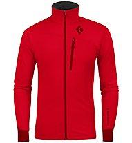 Black Diamond M Coefficient Jacket Herren Fleecejacke, Red