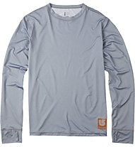 Burton Lightweight Crew Shirt Langarm, Heather Gray