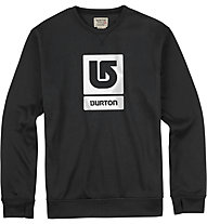 Burton Oak Crew Snowboard-Pullover, True Black Heather
