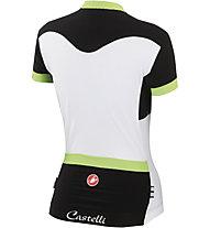 Castelli Gustosa Jersey FZ, Black/White/Lime