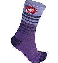 Castelli Righina 13 Sock - calze bici da donna, Violet