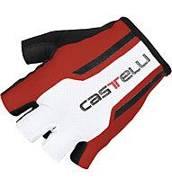 Castelli S. Due 1 Glove, Red/White/Black