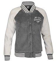 Everlast College Sweatshirt-Jacke Damen, Light Grey/White