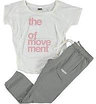 Freddy Pantaloni da ginnastica + T-Shirt donna, Grey/White