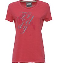 Freddy Toffee Slub Jersey 140 Gsm T-Shirt fitness donna, Red