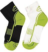 Get Fit Laufsocken Bi-Pack, Flash Green/Black-White