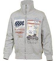 Get Fit Sweatshirt Jacke Boy, Grey/Usa