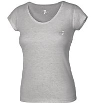 Get Fit Fitness Shirt Damen, Grey Melange