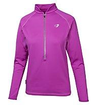 Get Fit Woman Polar Fleece Runningshirt Langarm Damen, Rose Violet