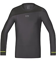 GORE RUNNING WEAR Fusion Shirt Long maglia a maniche lunghe running, Grey/Black