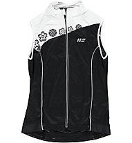 Hot Stuff Ärmelloses Damen-Jersey, White/Black