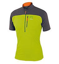 Karpos Roccia Zip Jersey T-Shirt Trekking, Green/Anthracite