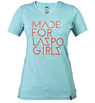 La Sportiva For Laspo Girls maglietta arrampicata donna, Ice Blue