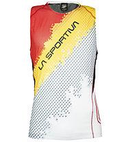 La Sportiva Velocity maglietta running senza maniche, Black/Yellow