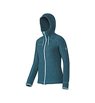 Mammut Arctic Hooded Midlayer giacca in pile trekking donna, Dark Pacific