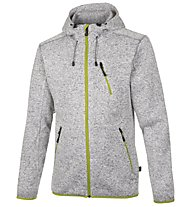 Meru Mallebo giacca con cappuccio, Grey Melange/Lemon