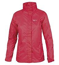 Meru Women Rain Jacket Giacca antipioggia donna, Coral