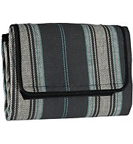 Meru Woodstock Picnic Blanket, Grey Striped