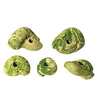 Metolius Klettergriffe Mini Jugs 5 Pack, Naturals (Green/Yellow)