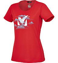 Millet Ld Fog Ts SS T-Shirt trekking Donna, Rouge