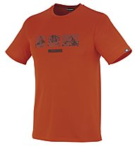 Millet Summit Ts SS T-Shirt trekking, Bright Orange