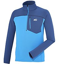 Millet Technostretch Zip Felpa in pile alpinismo, Blue