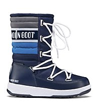 Moon Boot WE Quilted Jr - Moon Boot, Blue Navy/Royal/Silver