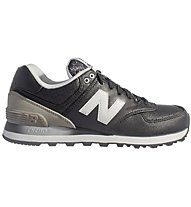 New Balance Synthetic Leather W Scarpe Tempo Libero Donne, Black/Grey