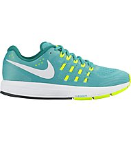 Nike Air Zoom Vomero 11 W - scarpa running donna, Turquoise/Yellow